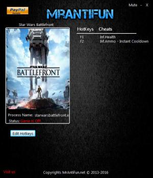 Star Wars: Battlefront Trainer +3 v1.5.42268 {MrAntiFun}