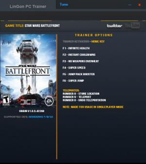 Star Wars: Battlefront Trainer +8 v1.0.5.42268 {LinGon}