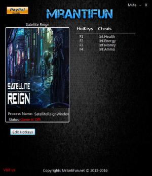 Satellite Reign Trainer +4 v1.07.08 {MrAntiFun}