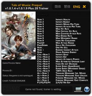 Tale of Wuxia: Prequel Trainer +28 v1.0.1.4 - 1.0.1.9 {FLiNG}