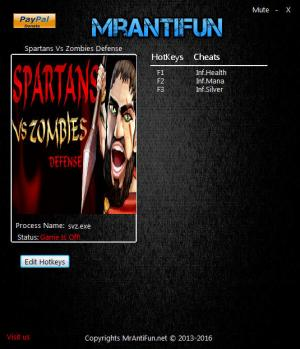 Spartans Vs Zombies Defense Trainer +3 v1.3.8 64 Bit {MrAntiFun}