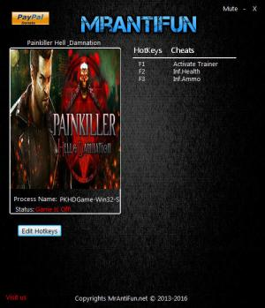 Painkiller: Hell & Damnation Trainer for PC game version 01.04.201