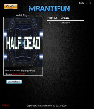 Half Dead Trainer for PC game version 1.05