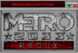Metro 2033 Redux Trainer for PC game version 1.0.0.3
