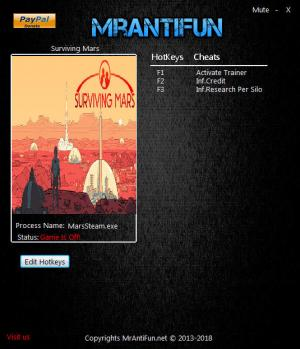 Surviving Mars Trainer +2 v03.21.2018 {MrAntiFun}