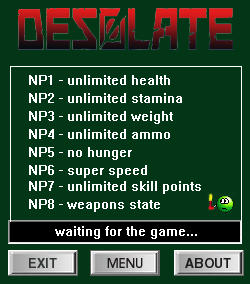 Desolate Trainer for PC game version v0.8.14