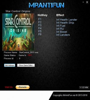 Star Control: Origins Trainer for PC game version  v1.0.52584