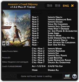 Assassin's Creed: Odyssey Trainer +21 v1.0.2 {FLiNG}