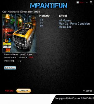Car Mechanic Simulator 2018 Trainer for PC game version v1.6.0