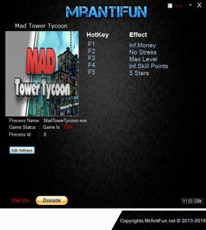 Mad Tower Tycoon Trainer for PC game version v19.06.21a