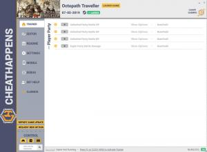 Octopath Traveler Trainer for PC game version v07.05.2019