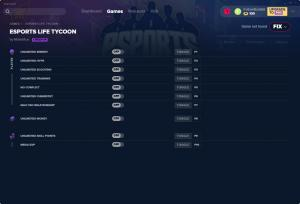 Esports Life Tycoon Trainer for PC game version v0.3.5