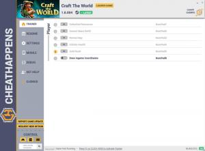 Craft the World Trainer for PC game version v1.6.004