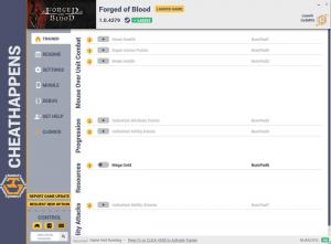 Forged of Blood Trainer for PC game version v1.0.4379