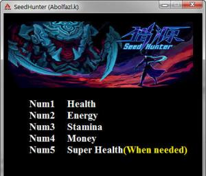 Seed Hunter Trainer for PC game version v1.0