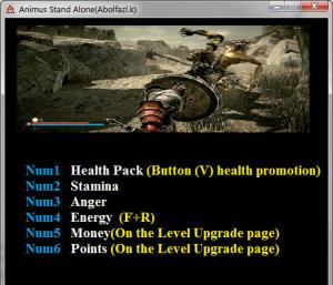 Animus - Stand Alone Trainer for PC game version v1.0