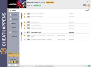 eFootball PES 2020 Trainer for PC game version v1.01.01