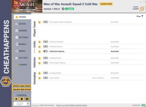Men of War: Assault Squad 2 – Cold War Trainer for PC game version v1.002.0