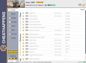 Anno 1800 Trainer for PC game version v09.21.2019