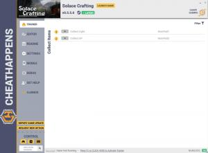 Solace Crafting Trainer for PC game version v0.5.5.6