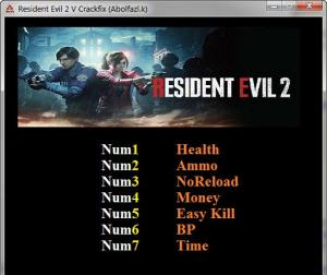 Resident Evil 2 Trainer for PC game version v1.0
