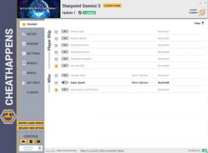 Starpoint Gemini 3 Trainer for PC game version v1.0 Update 1
