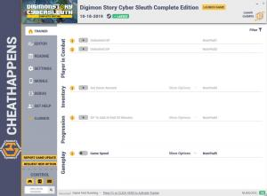 Digimon Story Cyber Sleuth: Complete Edition  Trainer for PC game version v1.0