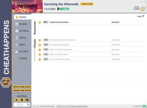 Surviving the Aftermath Trainer for PC game version v1.0.0.4934