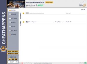 Europa Universalis 4 Trainer for PC game version v1.29.2.0