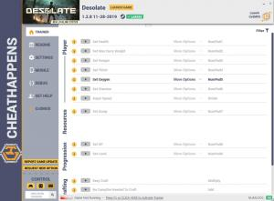 DESOLATE Trainer for PC game version v1.2.8 HF