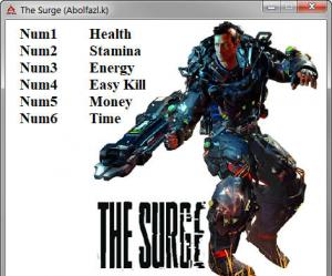 The Surge Trainer for PC game version v42854 Update 11