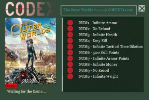 The Outer Worlds Trainer +10 v1.1.1.0 {CODEX}