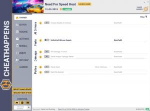 Need for Speed Heat Trainer for PC game version v12.03.2019