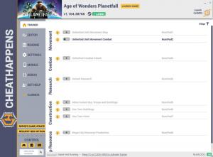 Age of Wonders: Planetfall Trainer for PC game version v1.104.38766