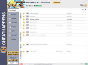 Dragon Quest Builders 2 Trainer for PC game version v1.7.1a