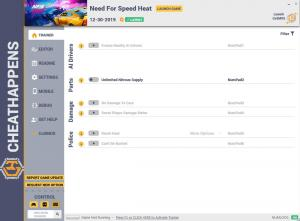 Need for Speed Heat Trainer for PC game version  v12.30.2019