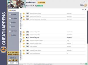 God Eater 3 Trainer for PC game version v2.30
