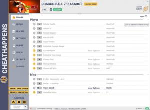 Dragon Ball Z: Kakarot Trainer for PC game version v1.031
