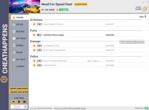 Need for Speed Heat Trainer for PC game version v01.29.2020