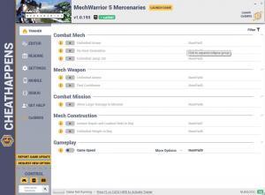 MechWarrior 5: Mercenaries Trainer for PC game version v1.0.193