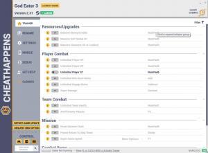 God Eater 3 Trainer for PC game version v2.31