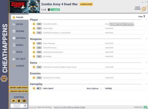 Zombie Army 4: Dead War Trainer for PC game version v1.14