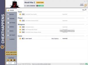 World War Z Trainer for PC game version v0.1.DEV.5388063