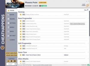 Phoenix Point Trainer for PC game version Revision 1.0.55275