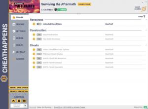 Surviving the Aftermath Trainer for PC game version v1.4.0.5654