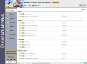 Warriors Orochi 4 Ultimate Trainer for PC game version v1.0.0.7