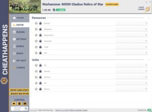 Warhammer 40.000: Gladius - Relics of War Trainer for PC game version v1.05.00