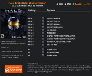 Halo: The Master Chief Collection Trainer for PC game version v2020.03.04