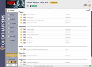 Zombie Army 4: Dead War Trainer for PC game version v1.20