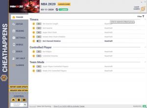 NBA 2K20 Trainer for PC game version v03.11.2020